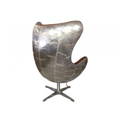 Swivel Living Room Chairs Sunken Stair Ideas European Design Aviator Egg Chair In Leather And Panelled ...
