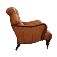 European Design Tufted High Back Leather Chair
