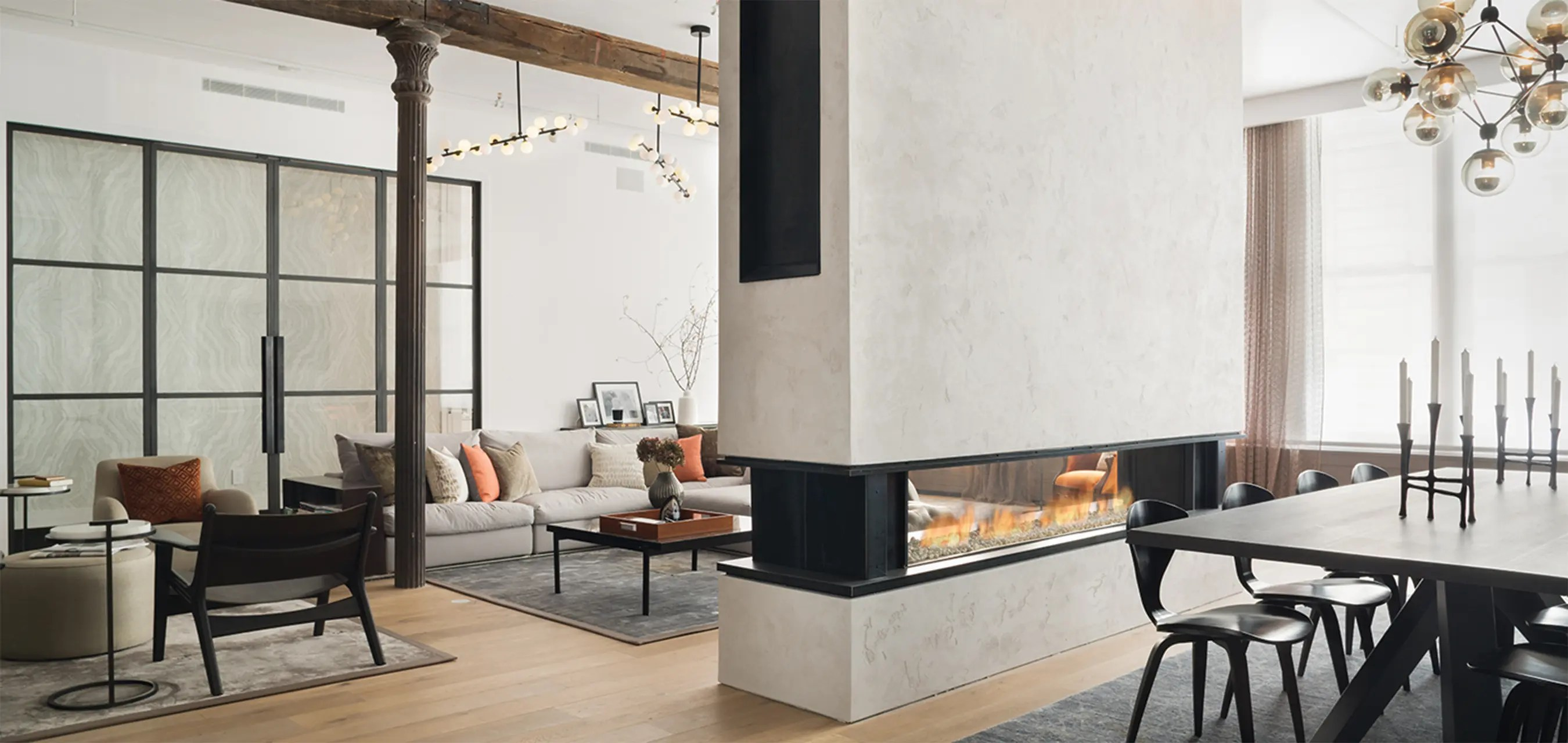 Tenore 240 by Element4  Seethrough Fireplace  Direct