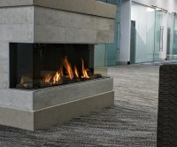 Trisore140 | Modern 3-sided Fireplace | Direct Vent Gas