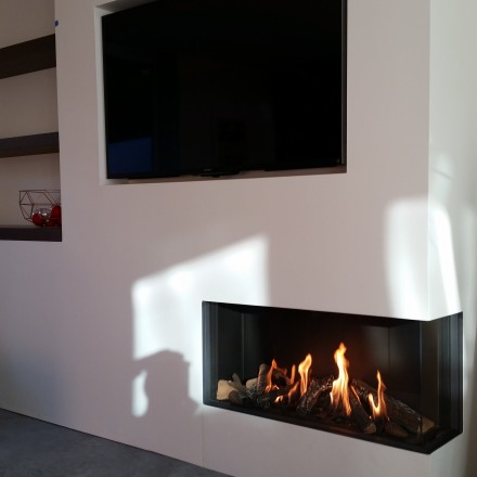 Bidore 95 Element4 Corner Direct Vent Gas Fireplace