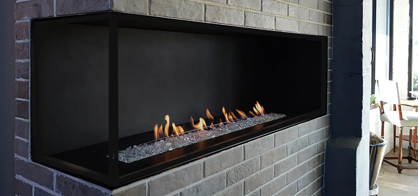 H Series by European Home  Modern Corner Fireplace  Vent Free Gas
