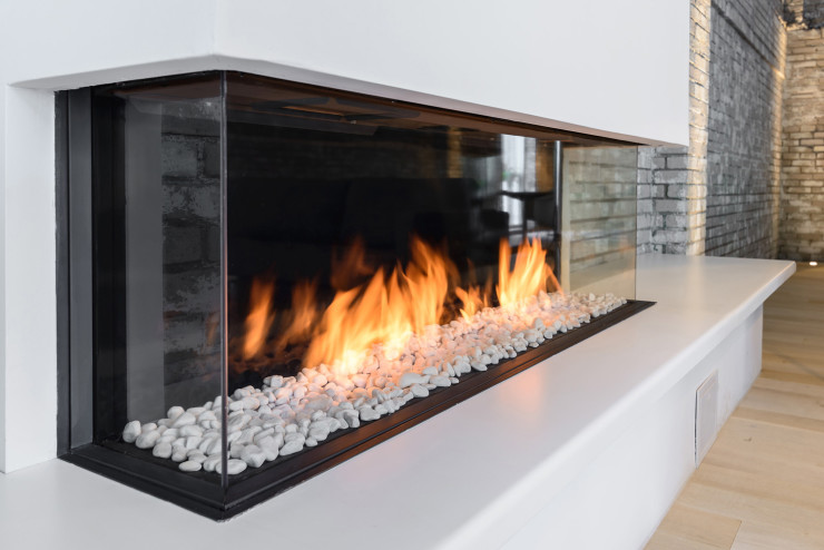 Trisore 140 Element4 ThreeSided Modern Direct Vent Gas Fireplace