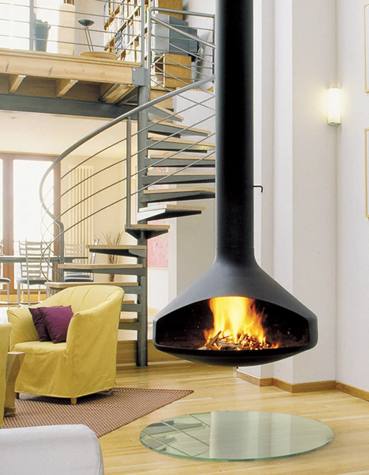 ERGOFOCUS by Focus Fires  Suspended OpenFaced Fireplace