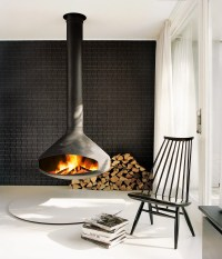 ERGOFOCUS by Focus Fires | Suspended, Open-Faced Fireplace