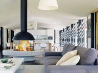 Mezzofocus by Focus Fires   Modern Steel and Glass Fireplace