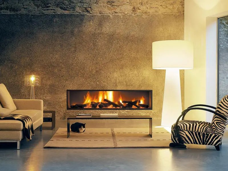 Neofocus by Focus Fires  Modern Linear Wood Fireplace