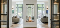 Sky Tunnel by Element4 | Vertical See Through Gas Fireplace