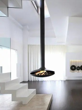 Gyrofocus by Focus Fires  Suspended Rotating Fireplace