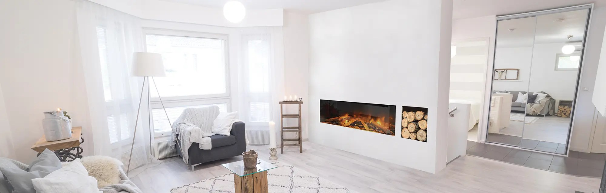 modern electric fireplaces highly