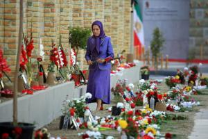 July 12, 2021 - Before addressing the Summit, Mrs. Rajavi visited the Khavaran Memorial, which was built in Ashraf 3, Albania, to honor the memory of the 30,000 martyred political prisoners during the summer of 1988 massacre, and paid tribute to those mar