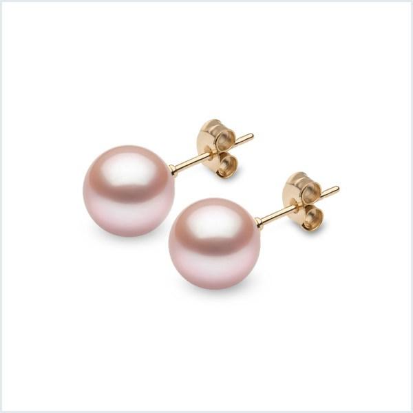 Euro Pearls Pink Freshwater Pearl Studs