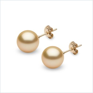 Golden South Sea Pearl Stud Earrings
