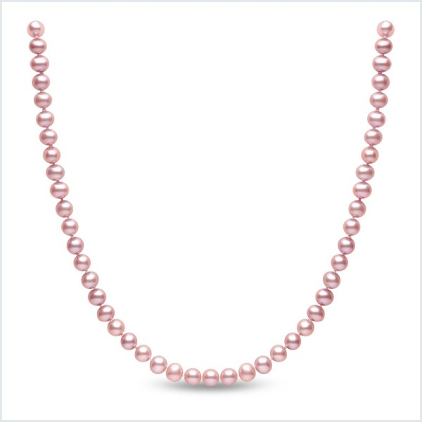 Euro Pearls 5mm Pink Freshwater Pearl Necklace