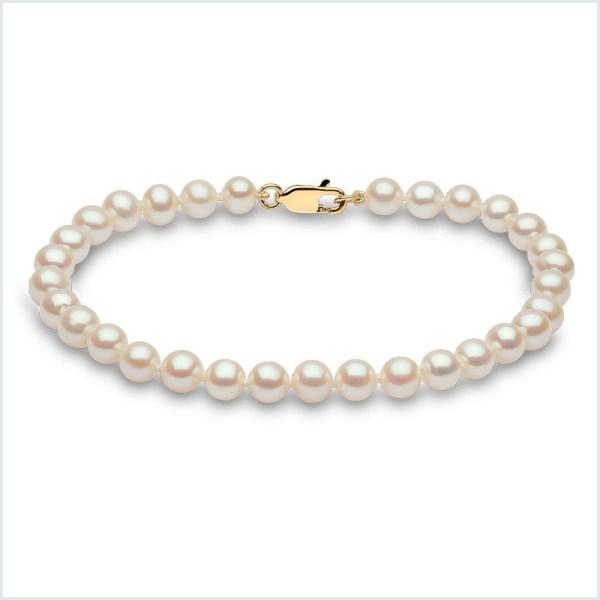 Euro Pearls White Freshwater Pearl Bracelet
