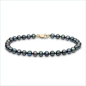 Euro Pearls Black Freshwater Pearl Bracelet