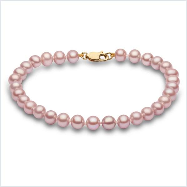 Euro Pearls Pink Freshwater Pearl Bracelet