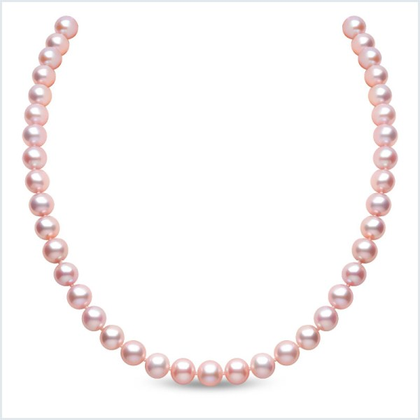 Euro Pearls 9mm Pink Freshwater Pearl Necklace