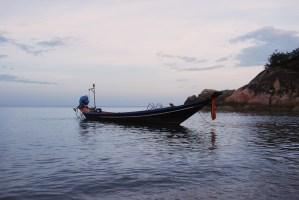 A longboat in Koh Pha ngan