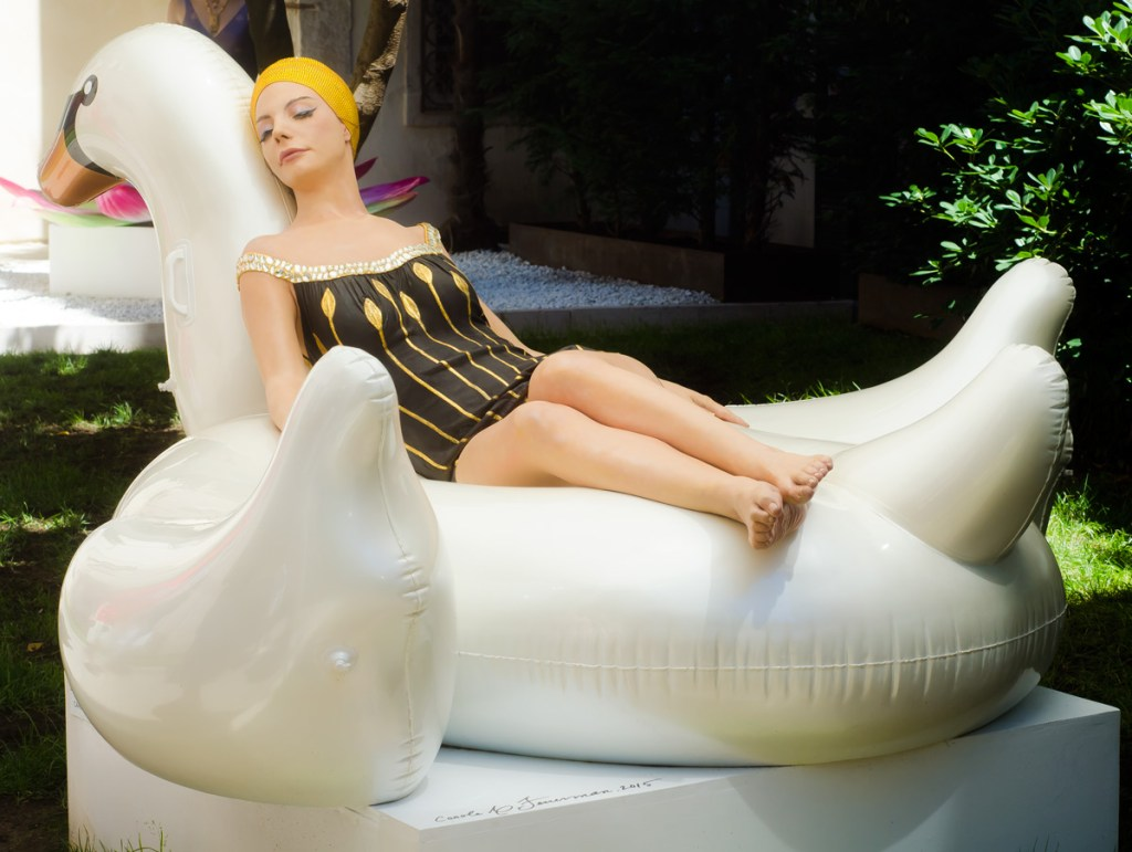 Leda and the Swan by Carole Feuerman