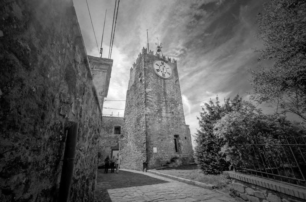 The 12th Century Torre del Carmine o dell'Orologio in Montecatini Alto