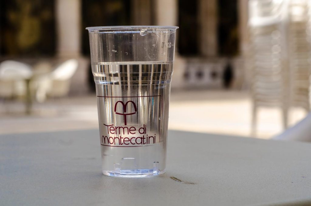 A glass of spa water. Montecatini-Terme