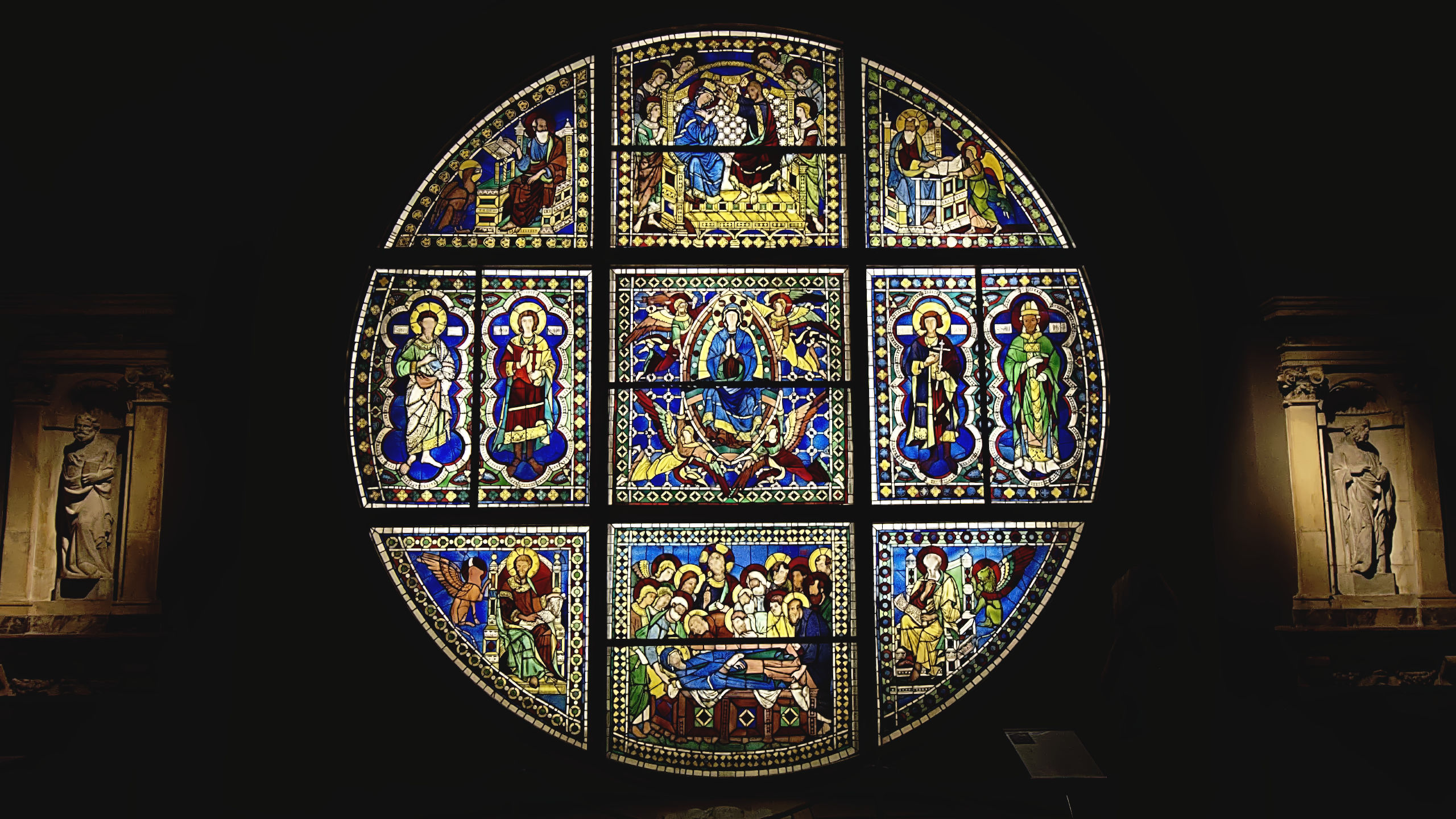Duccio di Buoninsegna's stained glass window in the Siena Cathedral