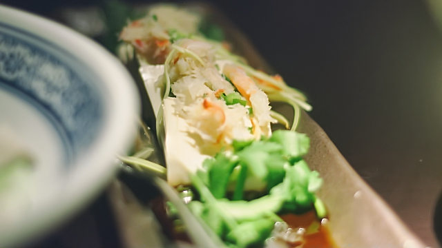 King crab and chilled tofu with Sichuan garlic sauce at Hutong in The Shard London