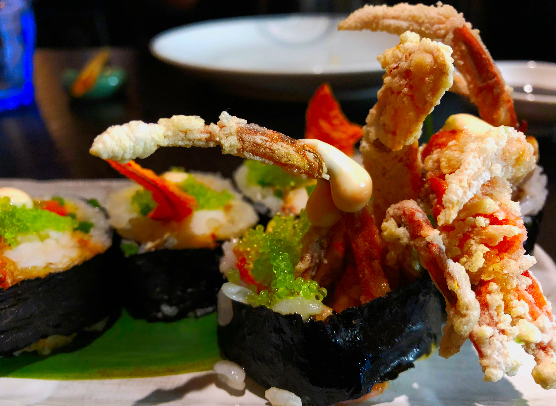 The Soft Shell Crab Sushi at Flesh and Buns, Fitzrovia