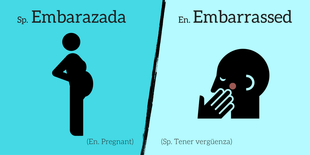 False friends: Embarazada ≠ Embarrassed