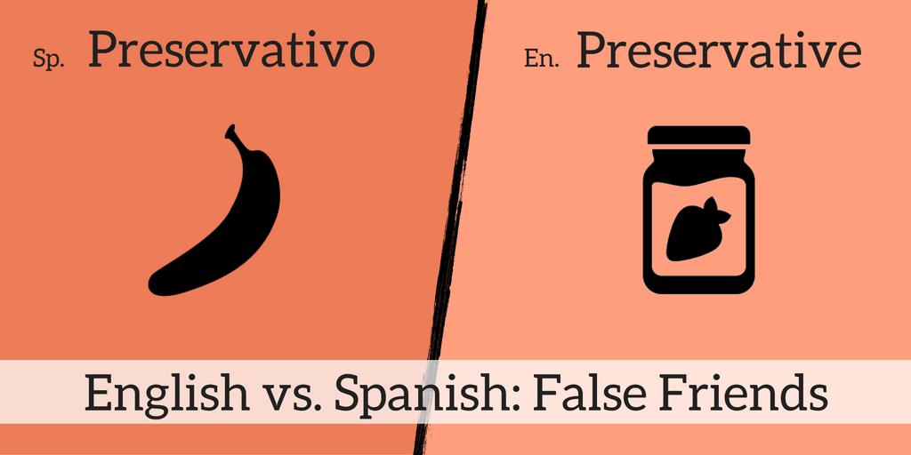 9 English & Spanish False Friends