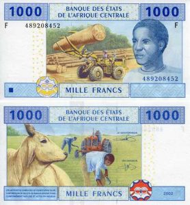 smallcentralafricanstates1000francsp507f
