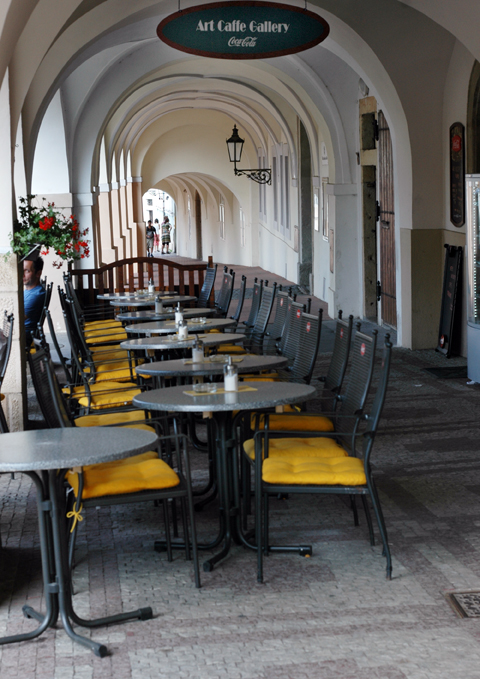 A charming cafe near the Prague Castle