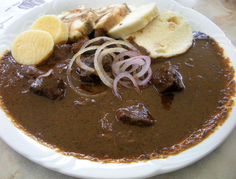 Braised meats and stews are popular in the Czech diet