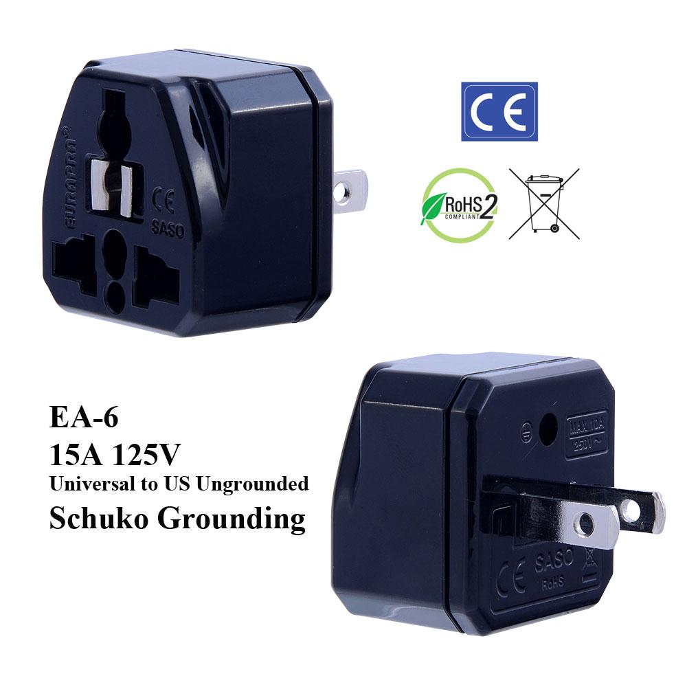 medium resolution of ea 6 black ungrounded us plug adapter