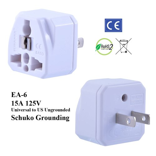 small resolution of ea 6 white ungrounded us plug adapter
