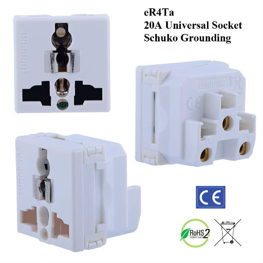 er4ta universal outlet with schuko ground plugs