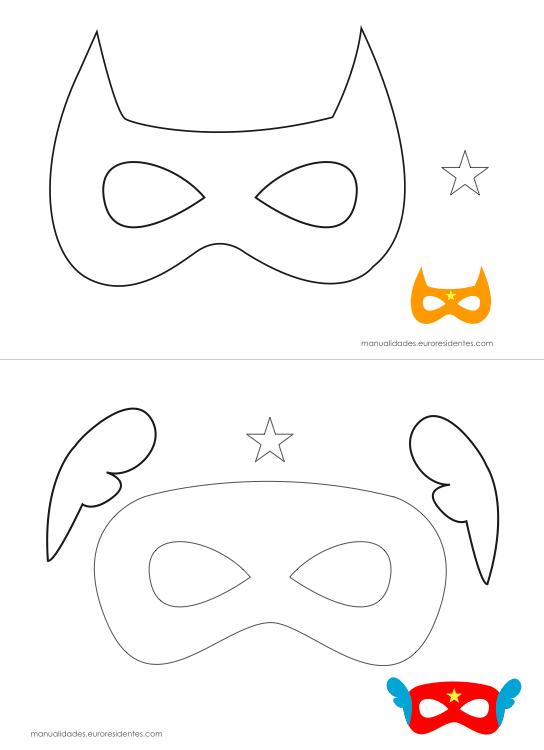 Originales máscaras de superhéroes para imprimir