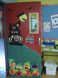 12 ideas para decorar la puerta de clase en Halloween ...