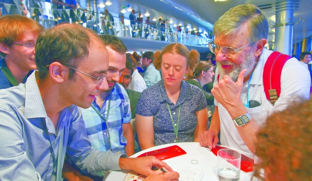 networking at the 62nd Lindau Nobel Laureate Meeting (Physics)