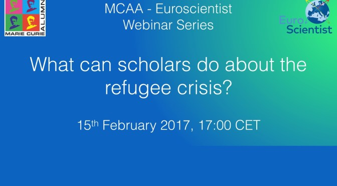 "Webinar: ""What can scholars do about the refugee crisis?"""