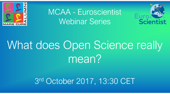 "Webinar: ""What does 'open science' really mean?"""
