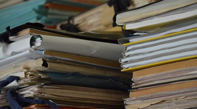 papers folders bureaucracy work