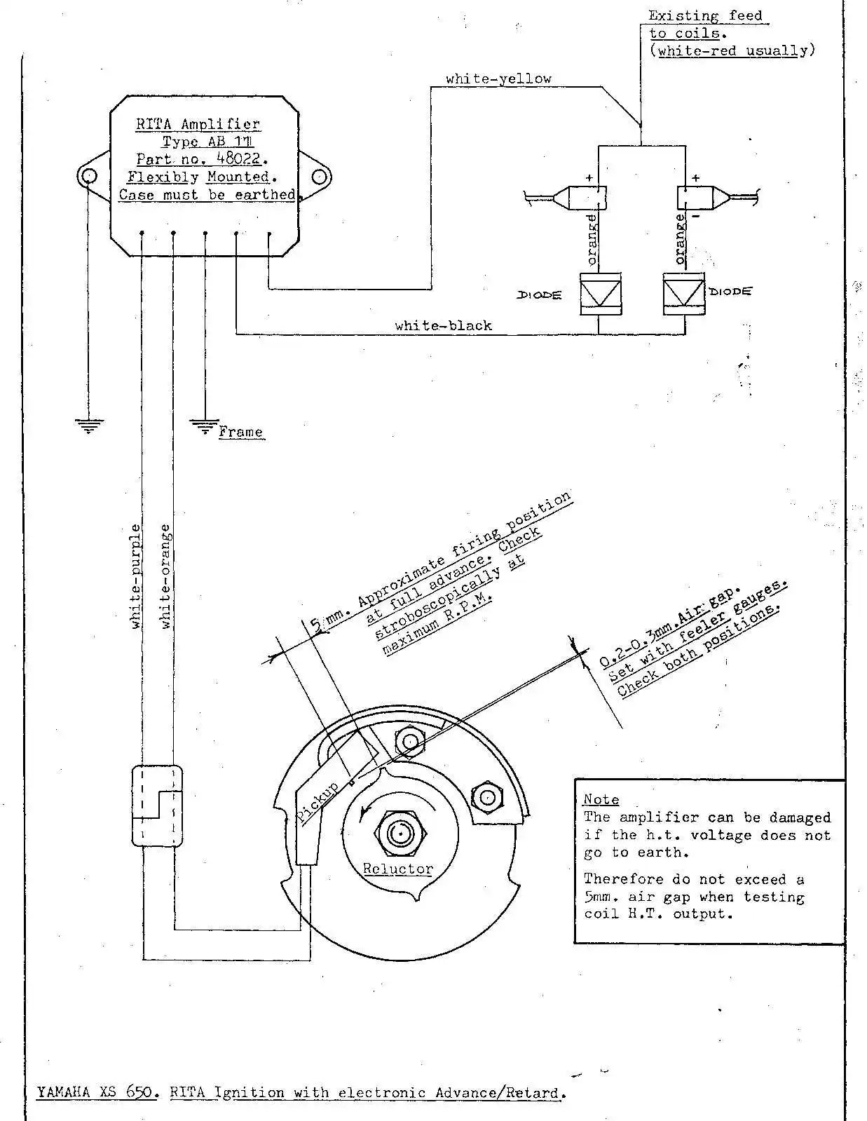 hight resolution of diagram for installing the lr130 rita ignition yamaha 650 twin 142k jpg file