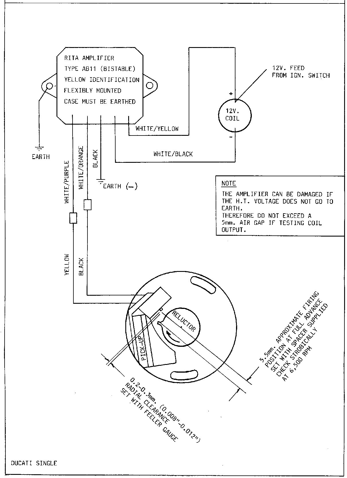 Diagram Lucas Rita Electronic Ignition Wiring Diagram