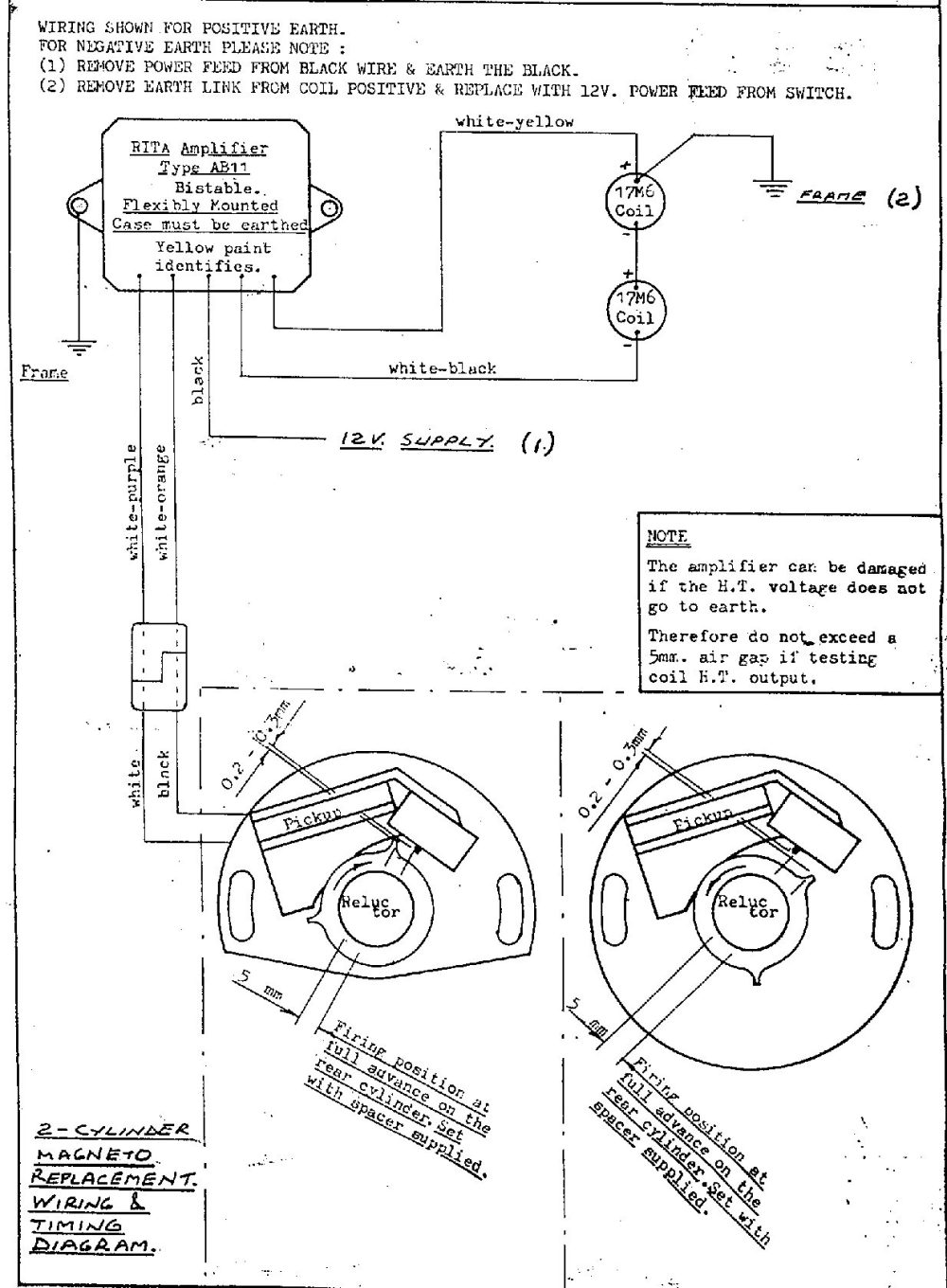 medium resolution of diagram for installing the lr134 rita ignition magneto replacement single parallel twin