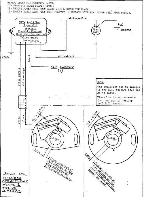 small resolution of diagram for installing the lr134 rita ignition magneto replacement single parallel twin