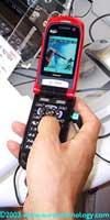 DoCoMo FOMA 3G cell phone F2102 by Fujitsu