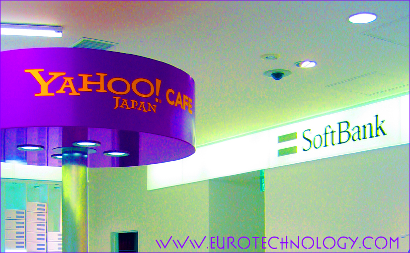 Yahoo Japan (Yahoo! KK) is a public, traded on the Tokyo Stock Exchange. 41.87% of shares are held by the SoftBank Group, 34.74% by Yahoo Inc