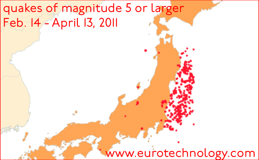 Fukushima disaster impact on Tokyo : Radiation risk and earth quake and after quake situation for Tokyo, Business risk impact. 5th update of 12 April 2011